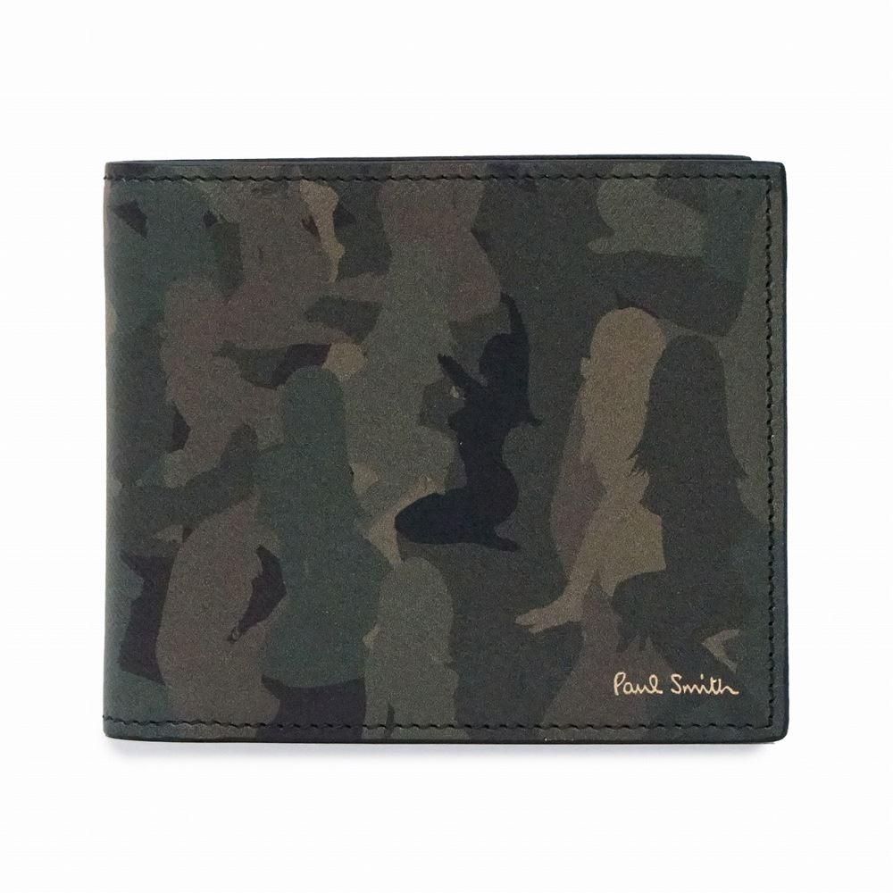 ポールスミス メンズ 二つ折り財布 Paul Smith M1A 4833 ANLCAM PR-Printed マルチカラー ブランド ビジネス 大容量 誕生日 プレゼント 送料無料