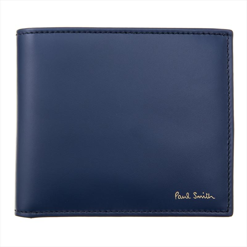 ポールスミス メンズ 二つ折り財布 Paul Smith M1A 4833 AMULTI 48-Denim ブランド 誕生日 プレゼント 送料無料