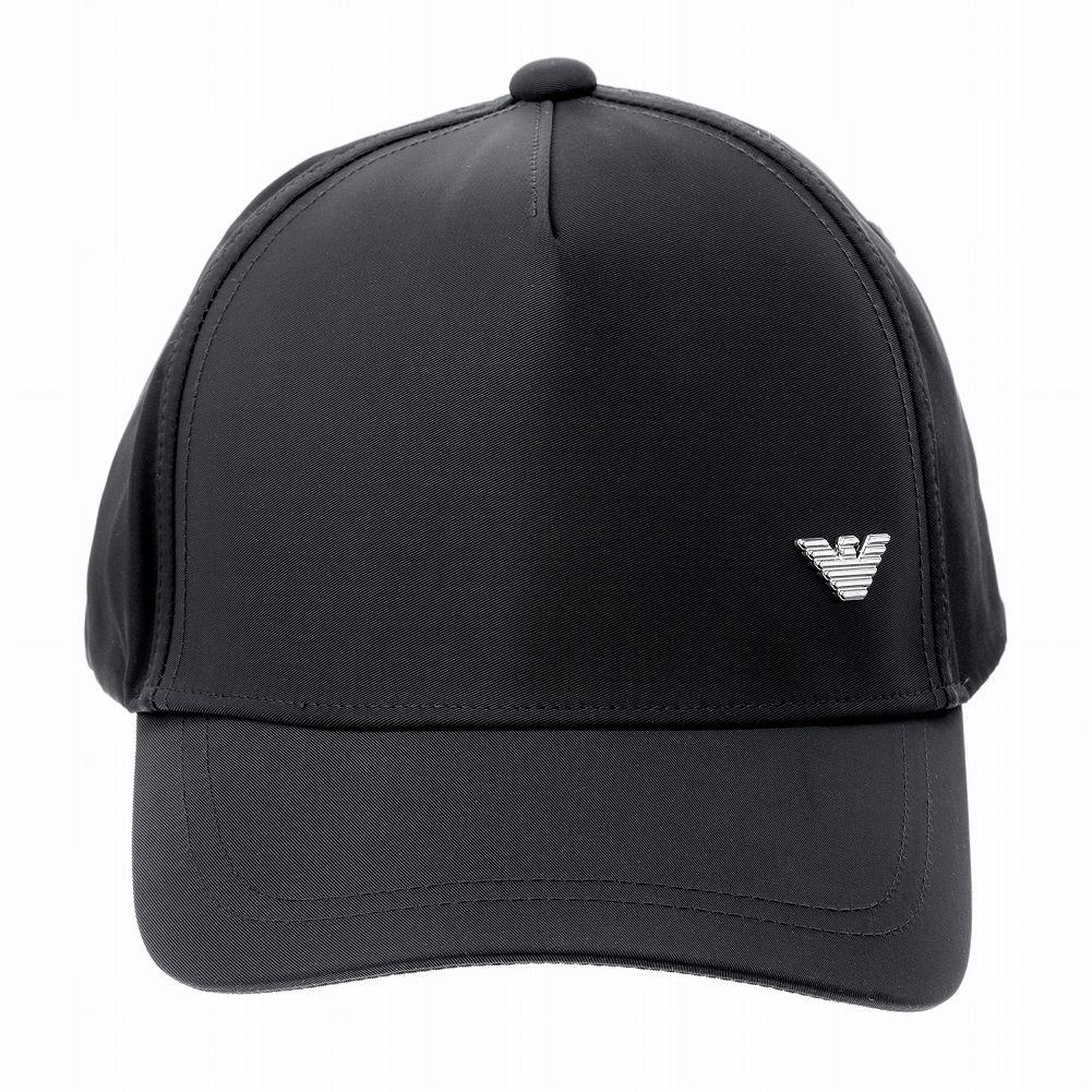 EMPORIO ARMANI 海外並行輸入正規品 特売 キャップ あす楽 エンポリオアルマーニ 627584 1P574 00020 ブラック イーグル 帽子 マーク メンズ