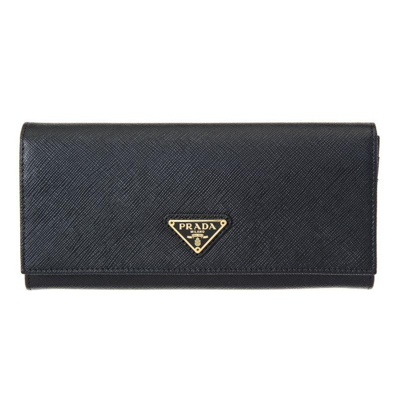 プラダ 財布 長財布 ブラック PRADA 1MH132 QHH F0002 誕生日 ブランド プレゼントにも 高級 20代 30代 40代 50代 60代 あす楽 送料無料 返品OK