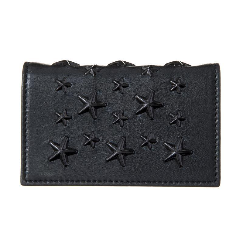 ジミーチュウ JIMMY CHOO カード入れ NELLO ENL BLACK/BLACK スプリングセール
