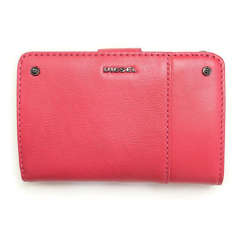 ディーゼル 財布 二つ折り財布 レディース VIRTUAL PINK DIESEL X03498 PR030 T4054 誕生日 ブランド プレゼントにも 高級 20代 30代 40代 50代 60代 あす楽 送料無料 ポイント消化 アウトレット