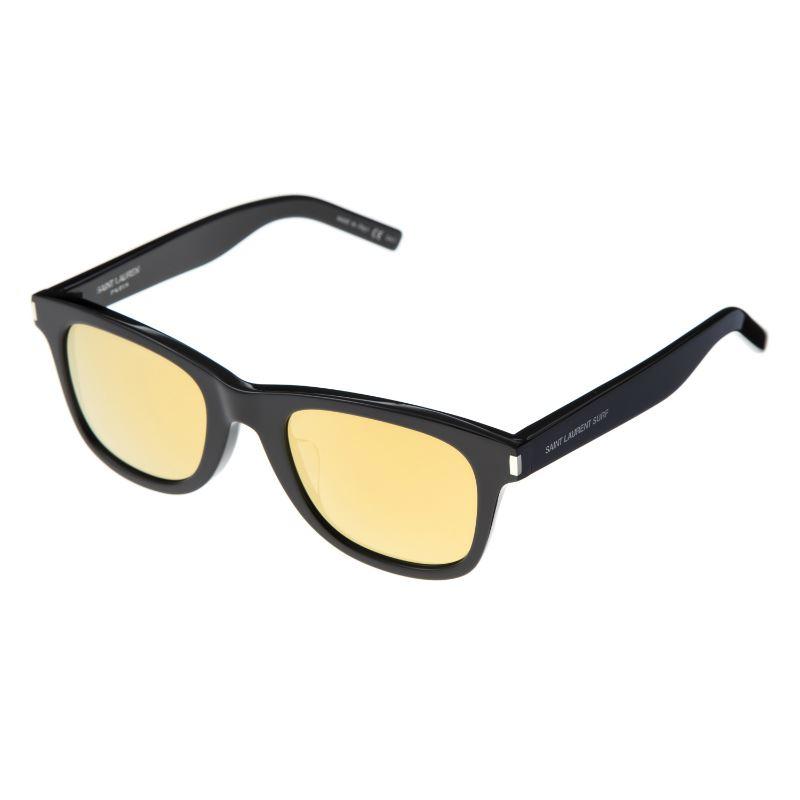 サンローラン サングラス アジアンフィット メンズ レディース レンズ/イエロー テンプル/ブラック SAINT LAURENT SL 51 SURF/F-001 50 誕生日 ブランド かっこいい 父の日 プレゼントにも 高級 20代 30代 40代 50代 60代 あす楽 送料無料 返品OK