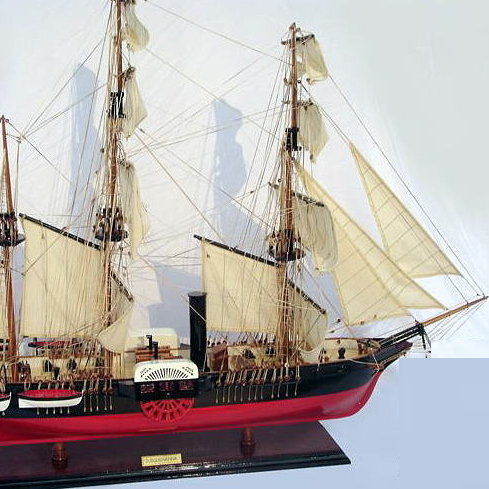 黒船 サスケハナ(完成品)精密模型 Susquehanna 【代引き不可】/送料無料