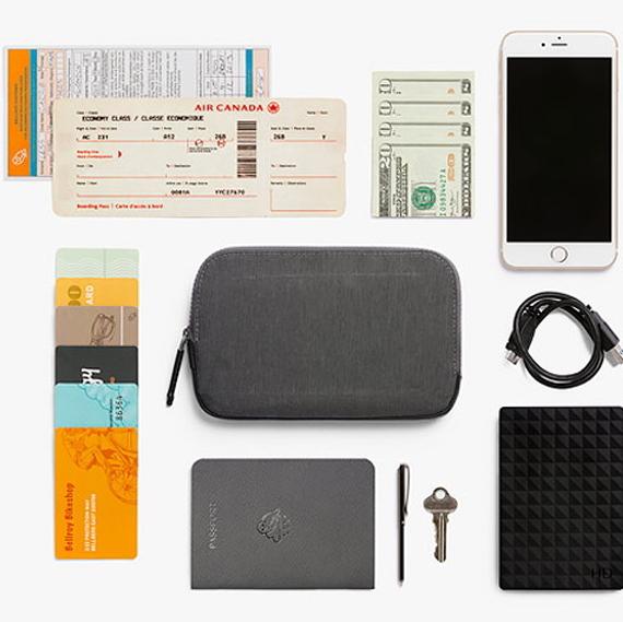 パスポートやスマホなど旅の必需品を整理して守ります!【Bellroy All-Conditions Essentials Pocket(織布)ベルロイ オール コンディション エッセンシャル ポケット】ポーチ/パスポートケース/スマートフォンケース/財布/スマホケース「送料無料」
