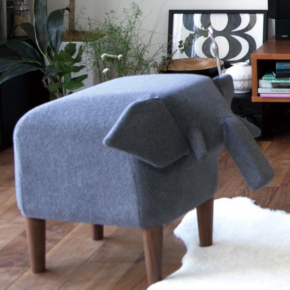 Frien'Zoo Stool(フレンズースツール) インテリアのアクセントにもなるアニマルスツール イス 布製 チェアー 動物スツール セメントプロデュースデザイン