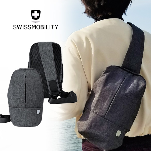スイス生まれのデザインと機能性【スイスモビリティ SWISSMOBILITY ボディバック/ボディバッグ MT-5683 】人間工学に基づいた快適構造と、スタイリッシュでクールなデザイン!iPadmini(7.9インチ)衝撃吸収構造ポケット/撥水/リュック/送料無料/