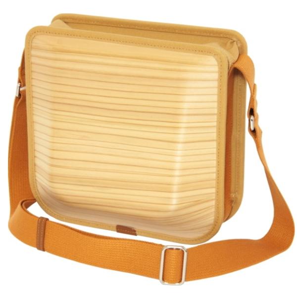 【エコアス馬路村】モナッカ monacca postman プレーン 〔木のバッグ〕  /送料無料