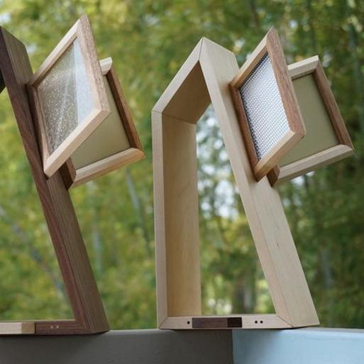 【LED照明】Feel Lab (フィールラボ) PACO Desk Light 有機EL照明 (メープル・ウォールナットの2色から選ぶ) 「送料無料」