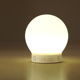 emoi スマートランプスピーカー ミニ(Smart Lamp Speaker-mini) LEDランプ スピーカー Bluetooth対応/スマホと連動/照明器具/インテリア/タブレット/音楽を楽しむ/ライト/LEDライト「送料無料」