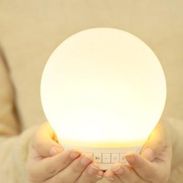 emoi スマートランプスピーカー プラス(Smart Lamp Speaker-plus) LEDランプ スピーカー Bluetooth対応/スマホと連動/照明器具/インテリア/タブレット/音楽を楽しむ/ライト/LEDライト「送料無料」