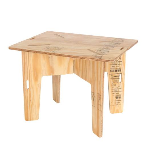 YOKA PANEL TABLE 折りたたみ テーブル 木製 <塗装済み職人仕上げ>(PANEL FURNITUREシリーズ) ローテーブル/アウトドア/ミニテーブル /送料無料