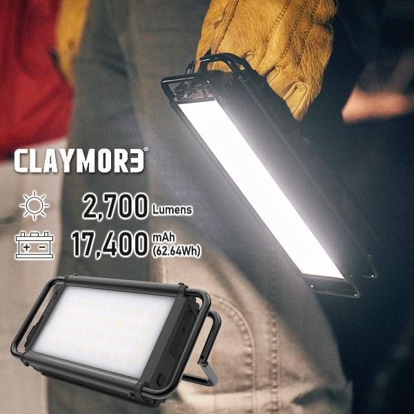 クレイモア ウルトラプラス CLAYMORE ULTRA+ Lサイズ LEDランタン スマホ充電 充電式防水 IP44 アウトドアランタン バーベキュー キャンプ クイックチャージ搭載 災害用 非常用 送料無料