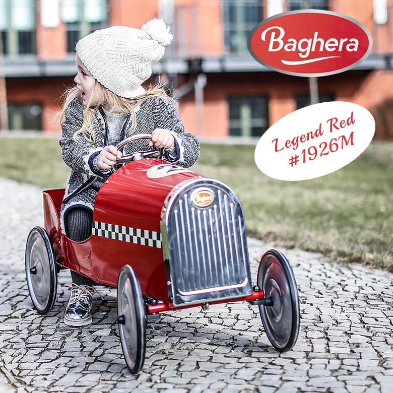 Baghera ペダルカー ライドオン Legend Red Rider #1926M レトロ KIDS バゲーラ ギフト インテリア 大型 車 カー おもちゃ お祝い 子供 大人 メタル製 KIDS キッズ 玩具 フランス 自動車 出産祝い プレゼント 送料無料