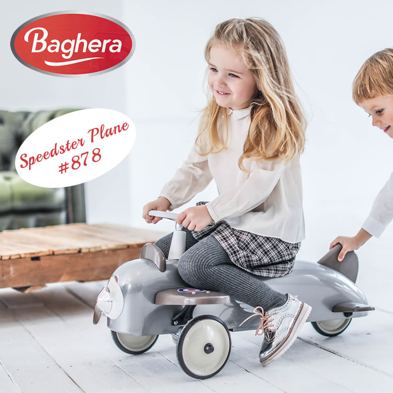 Baghera ライドオン Speedster Plane レトロ KIDS バゲーラ ギフト インテリア 大型 飛行機 プレイン 車 カー おもちゃ お祝い 子供 大人 メタル製 KIDS キッズ 玩具 フランス 航空機 出産祝い プレゼント 送料無料