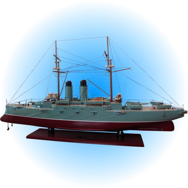 木製手作り・大型帆船模型 戦艦三笠(みかさ) 100cm 【 完成品 】 【代金引換不可】 /送料無料