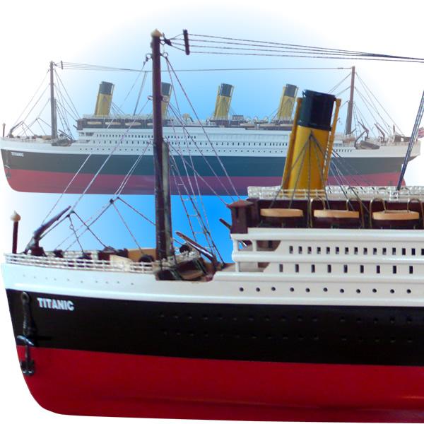木製手作り・大型帆船模型 タイタニック 80cm【 完成品 】 【代金引換不可】 /送料無料