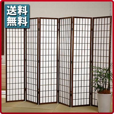 (生地) 縦横格子 障子スクリーン 120×180cm (屏風//衝立//間仕切り//スクリーン//パーテーション//パーティション//和風/)