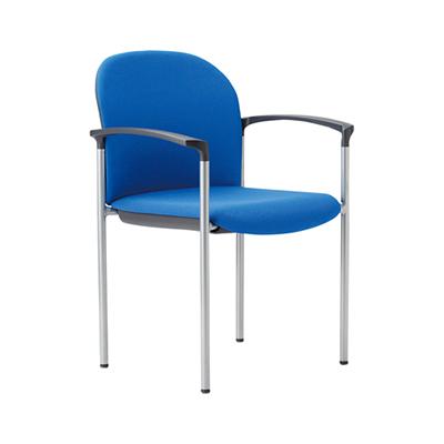 ミーティングチェア スタッキング 肘付き 粉体塗装 布張り/ビニールレザー張り 4本脚 チェア 椅子 イス いす chair 会議用椅子 会議チェア 会議イス 会議用イス スタッキングチェア おしゃれ 業務用 オフィス家具 激安