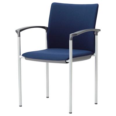 ミーティングチェア スタッキング 肘付き 紛体塗装 布張り/ビニールレザー張り 4本脚 チェア 椅子 イス いす chair 会議用椅子 会議チェア 会議イス 会議用イス スタッキングチェア おしゃれ 業務用 オフィス家具 激安