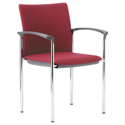 ミーティングチェア スタッキング 肘付き クロームメッキ 布張り/ビニールレザー張り 4本脚 チェア 椅子 イス いす chair 会議用椅子 会議チェア 会議イス 会議用イス スタッキングチェア おしゃれ 業務用 オフィス家具 激安