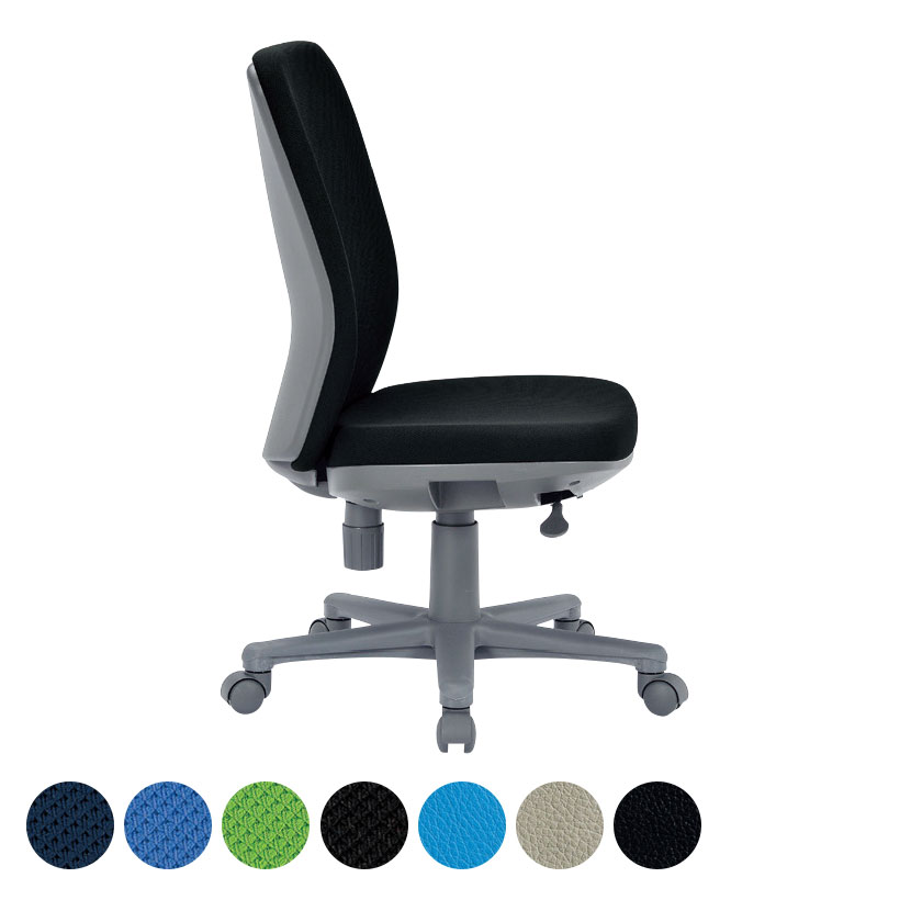 【布ブルー:7月中旬入荷予定】オフィスチェア/肘無・ミドルバックタイプ/OA-1205 事務椅子 オフィスチェアー 学習椅子 勉強椅子 パソコンチェアー デスクチェアー