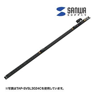 サンワサプライ 19インチサーバーラック用コンセント 30A 電流表示機能付 18個口 3m
