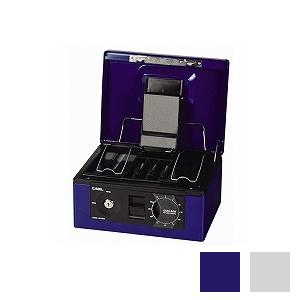 手提げ金庫 キャッシュボックス A5サイズ書類収納可能 2.6kg 鍵2個付き コイントレー付き 1台 二重ロック コインカウンター表示 カール kinko EC-CB-8560