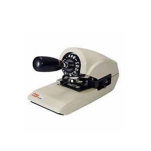 ロータリーチェックライター ワンプッシュ方式 ¥$ユーロ搭載 1.8kg 1台 マックス NR-20 クロ チェックライタ max  EC-RC-150S