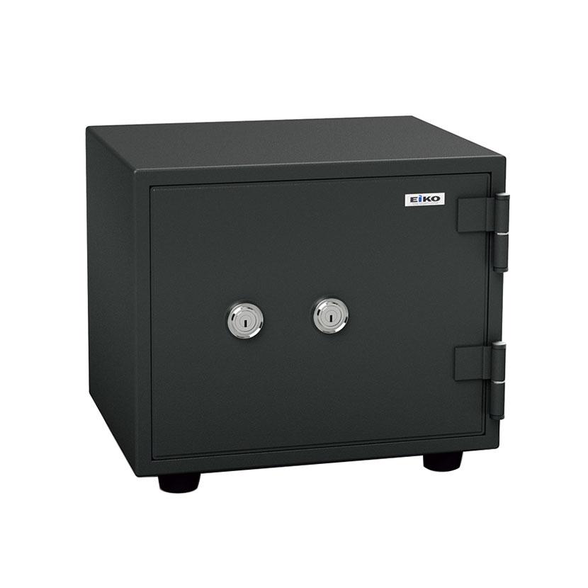 【エーコー】家庭用 小型 耐火金庫 ダブルシリンダー錠 安心2重ロック式 A4用紙収納可/BES-9K2