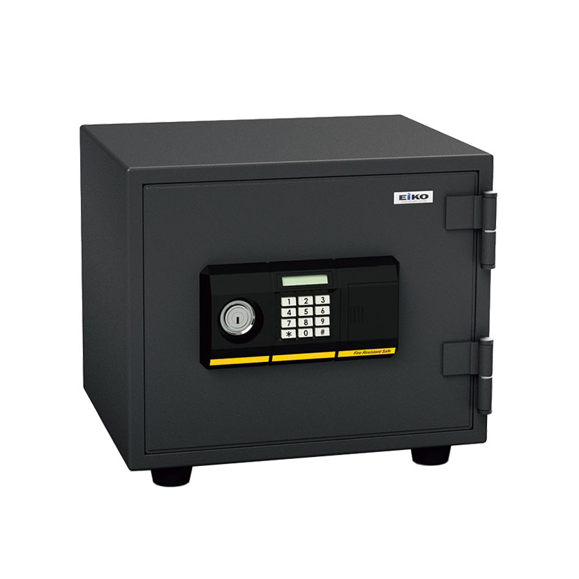 【エーコー】家庭用 小型 耐火金庫 テンキー式 プッシュ式 A4用紙収納可/BES-9PK