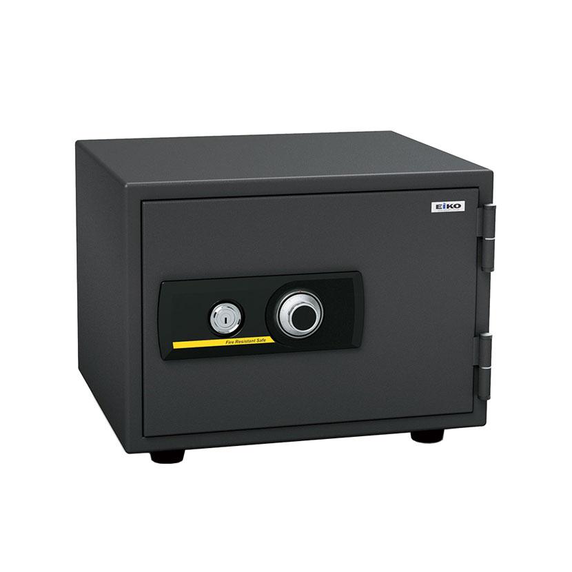 【エーコー】家庭用 小型 耐火金庫 ダイヤル式 A4用紙収納可 トレー4段 アラーム付き/BSS-4A