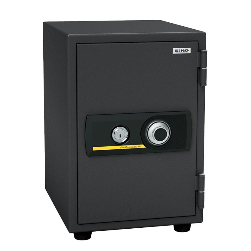 【エーコー】家庭用 小型 耐火金庫 ダイヤル式 A4ファイル収納可 アラーム付き/BSST-A