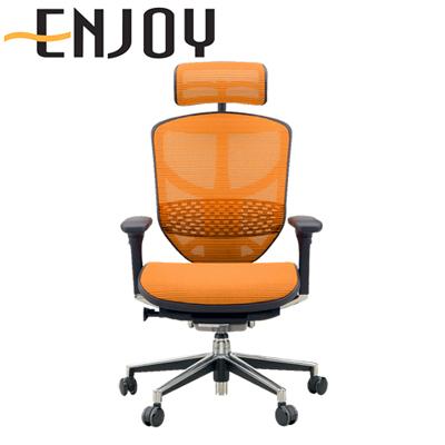 【4月中旬入荷予定】【エルゴヒューマン エンジョイ】オフィスチェア パソコンチェア リクライニング ハイタイプ メッシュ 肘付き ヘッドレスト デスクチェア ワークチェア 事務椅子 腰痛対策 ハイバック 疲れにくい イス 椅子【Ergohuman ENJOY】