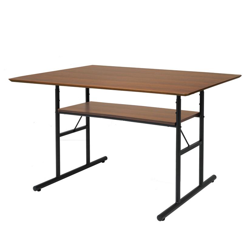anthem (アンセム) アンティーク調ダイニングテーブル ブラウン ウォルナット天然木化粧板 リビング 幅1200×奥行750×高さ720mm ICB-ANT-3049BR