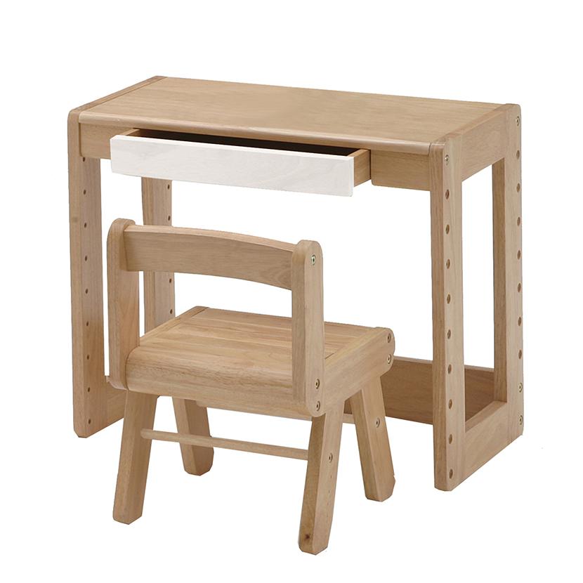 天然木のキッズチェアー・デスクセット 子ども 幼児 子供部屋 学習 塾 学童 教室 天板耐荷重15 チェア耐荷重25