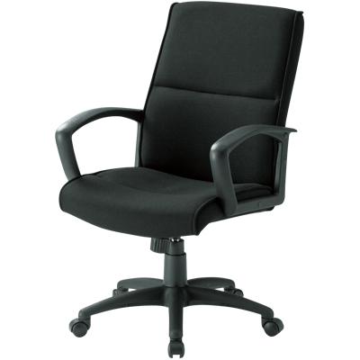 【新品】【激安】プレジデントチェア/布張り/ブラック/FTX-3 事務椅子 オフィスチェアー 事務いす