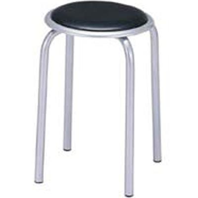 丸イス 10脚セット/SS-320T 【ブラック・ブルー】 スタッキングチェア スツール 丸椅子 丸いす チェア 円形 イス ミーティングチェア 会議用 スタッキングチェア スタックチェア