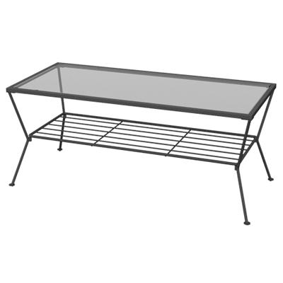GARDEN(ガーデン) リビングテーブル ガラステーブル 四角 幅900×奥行450×高さ380mm センターテーブル ローテーブル シンプル クール ホーム 家具 リビング