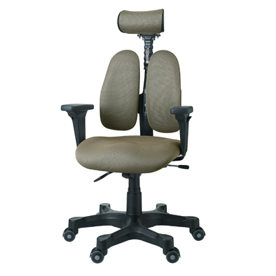 【デュオレスト】【人間工学チェア】オフィスチェア 背座 メッシュ 可動 肘付き ヘッドレスト付き DR-7501SP 椅子 チェア イス chair 事務椅子 事務イス パソコンチェア デスクチェア 腰痛 腰痛対策 疲れにくい 学習チェア