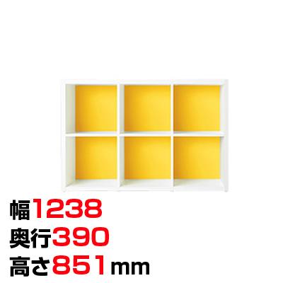 Garage(ガラージ) colormarche カラーマルシェ ストレージGR 2段3列 A4ファイル対応 幅1238×奥行390×高さ851mm GA-GR-1208