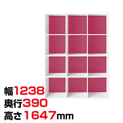 Garage(ガラージ) colormarche カラーマルシェ ストレージGR 4段3列 A4ファイル対応 幅1238×奥行390×高さ1647mm GA-GR-1216