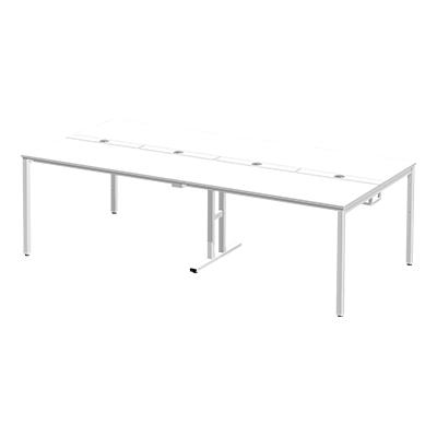 Garage(ガラージ) Multipurpose TABLE(マルチパーパステーブル) フリーアドレスデスク 一枚天板仕様 幅2400×奥行1200×高さ720mm GA-MP-2412S