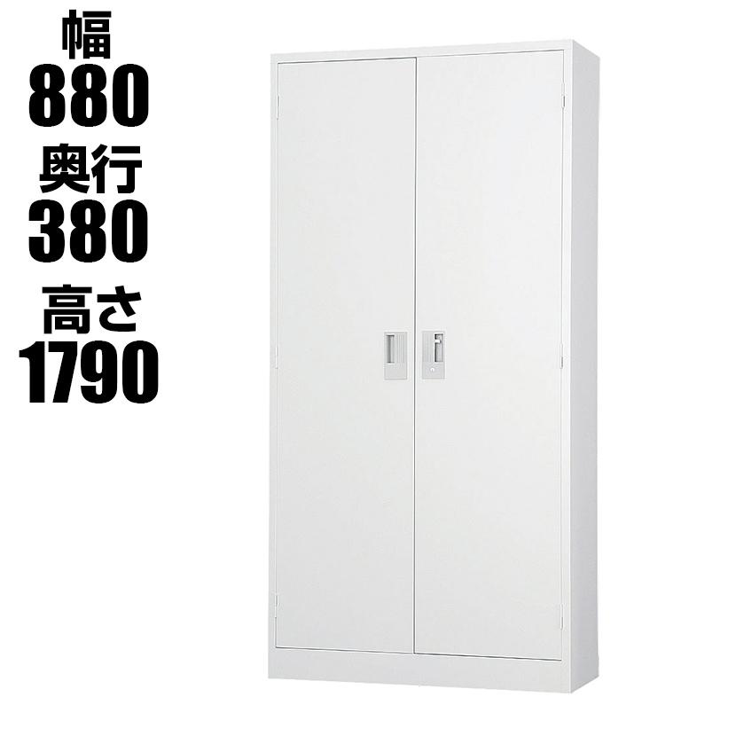 スチール書庫 TSシリーズ 両開き書庫 鍵付き ホワイトグレー 幅880×奥行380×高さ1790mm 国産 完成品 TS-36H