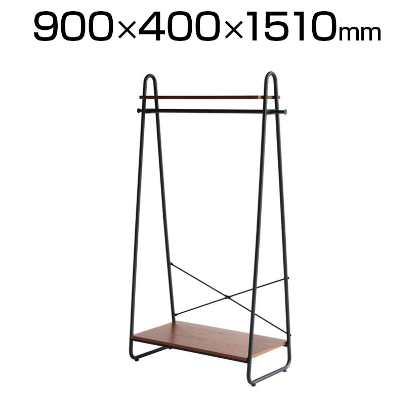 anthem(アンセム)ハンガーラック 幅900×奥行400×高さ1510mm 木目 天然木 インダストリアル ホーム リビング ダイニング ブラウン ANH-3293-BR