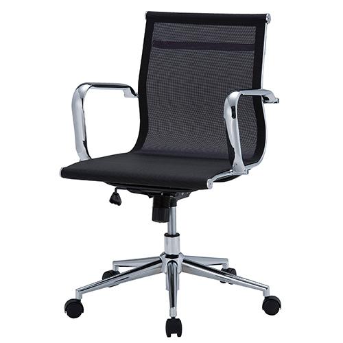 デザインチェア メッシュタイプ オフィス/ミーティングルーム 通気性 幅570×奥行610×座面高400~480mm