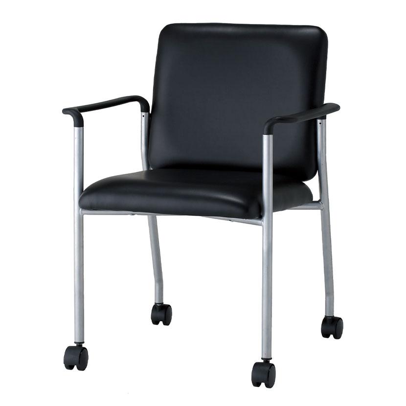 会議用チェア ミーティングチェア 肘付き キャスター付き 会議椅子 ミーティングチェア