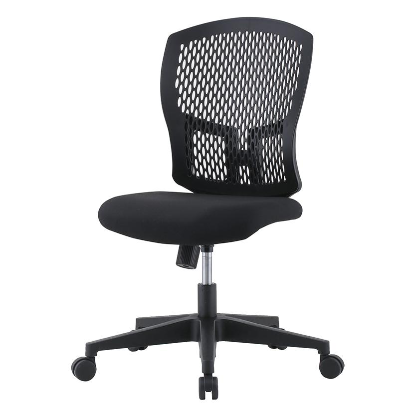 樹脂メッシュオフィスチェア 肘なし 樹脂脚 幅485×奥行550×高さ902~982 座面高さ400~480mm
