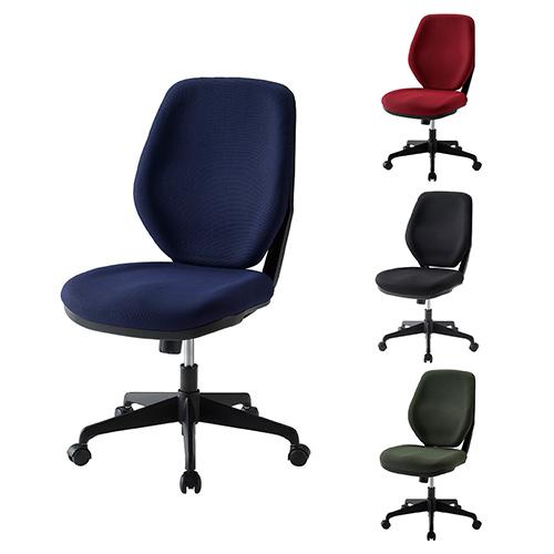 LUXチェア オフィスチェア クロスハイバック モールドウレタン仕様 座り心地重視 幅525×奥行628×座面高448~538mm