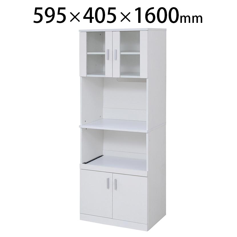 SIMシリーズ レンジ台 キッチン収納 食器棚 レンジボード幅595×奥行405×高さ1600mm JKP-FAP-0016-WH